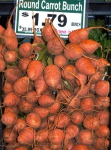 Have you ever seen round carrots? Now you have.